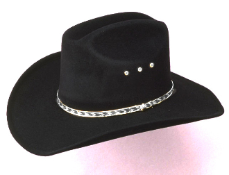 "The ""Black Felt Summit"" Gold band Toddler, Child Cowboy Hat is perfect for the little cowboys and cowgirls who love to play or show the western spirit in them."