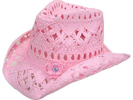 84a3d6919c6 Pink Flower Toyo Jr. straw cowgirl hat