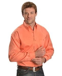 Mens long sleeve Pearl snap western shirt pearl snap western shirt, western shirt, mens western shirt, cowboy shirt, orange western shirt for men, western orange mens shirt