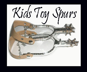 These Cowboys Replica Kids Toy Western Spurs come with adjustable leather like straps and fits both children to adult sized cowboy boots. Great cowboy boot spurs for a western party or just to play in.